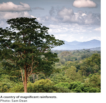 A country of magnificent rainforests.
