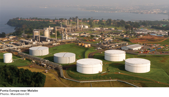 Punta Europa near Malabo (Photo: Marathon Oil)