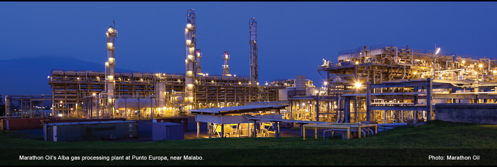 Marathon Oil's Alba gas processing plant at Punto Europa, near Malabo (Photo: Marathon Oil)